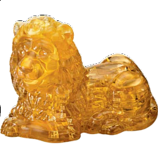 3D Crystal Puzzle Deluxe - Lion - Plastic Interlocking Puzzles