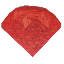 3D Crystal Puzzle - Gem - Ruby Red
