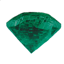 3D Crystal Puzzle - Gem - Emerald Green - Search Results