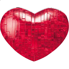 3D Crystal Puzzle - Heart (Red) -