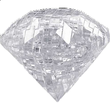 3D Crystal Puzzle - Gem - Diamond Clear