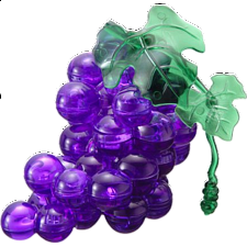 3D Crystal Puzzle - Grapes - Plastic Interlocking Puzzles