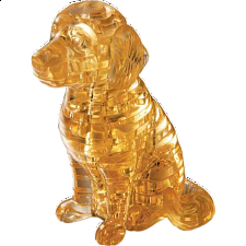 3D Crystal Puzzle - Puppy Dog - Plastic Interlocking Puzzles