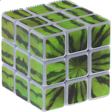 3x3x3 - Watermelon - White Body -
