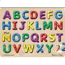 Spanish Alphabet Sound Puzzle - Wood Puzzles