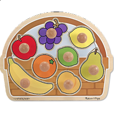 Fruit Basket - Large Jumbo Knob - Wood Puzzles