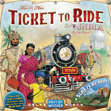 Ticket to Ride: India includes map Switzerland - Games & Toys