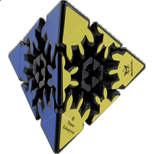 Gear Pyraminx - Black Body (Same as Gear Pyraminx II) - Meffert's Rotational Puzzles