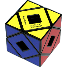 Holey Skewb Cube - Black Body - Meffert's Rotational Puzzles