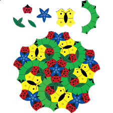 In the Garden - Plastic Interlocking Puzzles