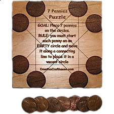 7 Pennies - Other Wood Puzzles
