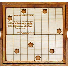Save the Queens Chess Puzzle - Other Wood Puzzles