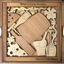 Wine Lover`s Puzzle - Wood Puzzles