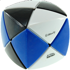 Pillowed Dino Cube - 3 Color - Black, White & Blue - Other Rotational Puzzles