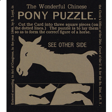 The Wonderful Chinese Pony Puzzle - Limited Edition - Numbered - Paper Puzzles