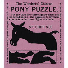 The Wonderful Chinese Pony Puzzle - Purple - Limited Edition - Paper Puzzles