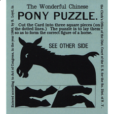 The Wonderful Chinese Pony Puzzle - Blue - Limited Edition - Paper Puzzles