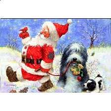 World's Smallest Jigsaw Puzzle - Santa's Best Friend