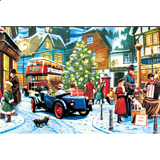 World's Smallest Jigsaw Puzzle - Christmas Streets - World's Smallest Pieces