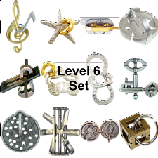 .Level 6 - a set of 12 Hanayama puzzles