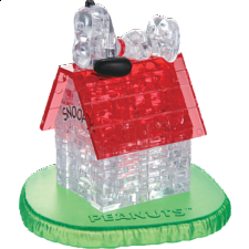 3D Crystal Puzzle - Snoopy House - Plastic Interlocking Puzzles