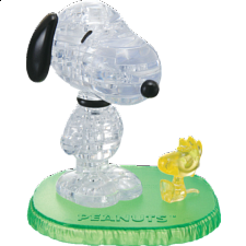 3D Crystal Puzzle - Snoopy Woodstock - Plastic Interlocking Puzzles