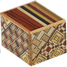 Mame 12 Step Natural Wood and Koyosegi - Japanese Puzzle Boxes