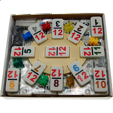 Mexican Train Dominoes Double 12 Professional Set - NUMBERS - Dominoes