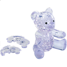 3D Crystal Puzzle - Teddy Bear - Clear