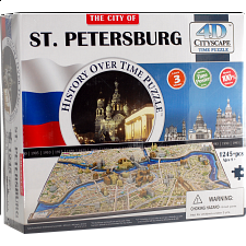 4D City Scape Time Puzzle - St. Petersburg - 3D