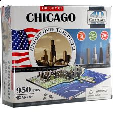 4D City Scape Time Puzzle - Chicago - 3D