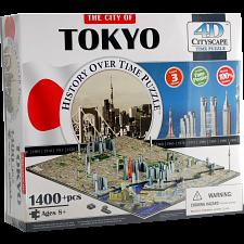 4D City Scape Time Puzzle - Tokyo - 3D