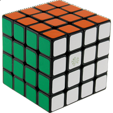 Spring 4x4x4 Cube - Black Body - Rubik's Cube & Others
