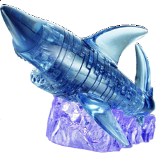 3D Crystal Puzzle - Shark - Plastic Interlocking Puzzles