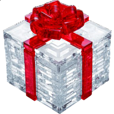 3D Crystal Puzzle - Gift Box - Red - Misc Puzzles