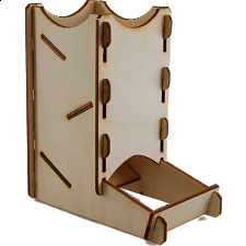 Knockdown Dice Tower - Birch - Game Accessories