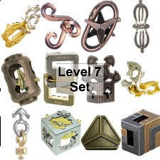 .Level 7 - a set of 12 Hanayama puzzles