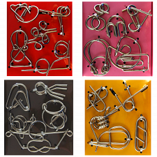 Wire Puzzle Set #2 - Group of 4 - Hanayama - Wire & Metal Puzzles