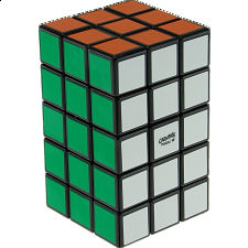 Calvin's 3x3x5 Cuboid with Aleh & Evgeniy logo - Black Body - Rubik's Cube & Others