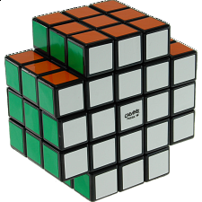 Calvin's 3x3x5 X-Shaped-Cube with Evgeniy logo - Black Body - Rubik's Cube & Others