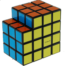 Calvin's 3x3x5 L-Cube with Evgeniy logo - Black Body - Rubik's Cube & Others