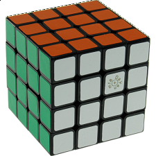 Spring 4x4x4 Cube  - Black Body (Version IV) 66 mm - Rubik's Cube & Others