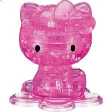 3D Crystal Puzzle - Hello Kitty - Pink - Plastic Interlocking Puzzles