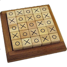 Mosaic Tic Tac Toe - Wood Games