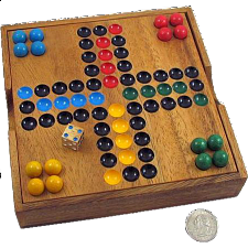 Ludo Wooden Game - Classic Strategy Game - Wood Games