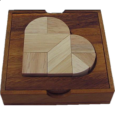 Heartbreak Tangram - Wood Puzzles
