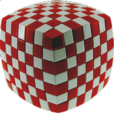 V-CUBE 7 (7x7x7): Illusion - Red and White - Rubik's Cube & Others