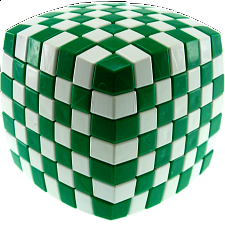 V-CUBE 7 (7x7x7): Illusion - Green and White - Rubik's Cube & Others