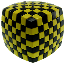 V-CUBE 7 (7x7x7): Illusion - Yellow and Black - Rubik's Cube & Others