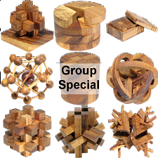 Group Special - a set of 9 XS HeadStress puzzles